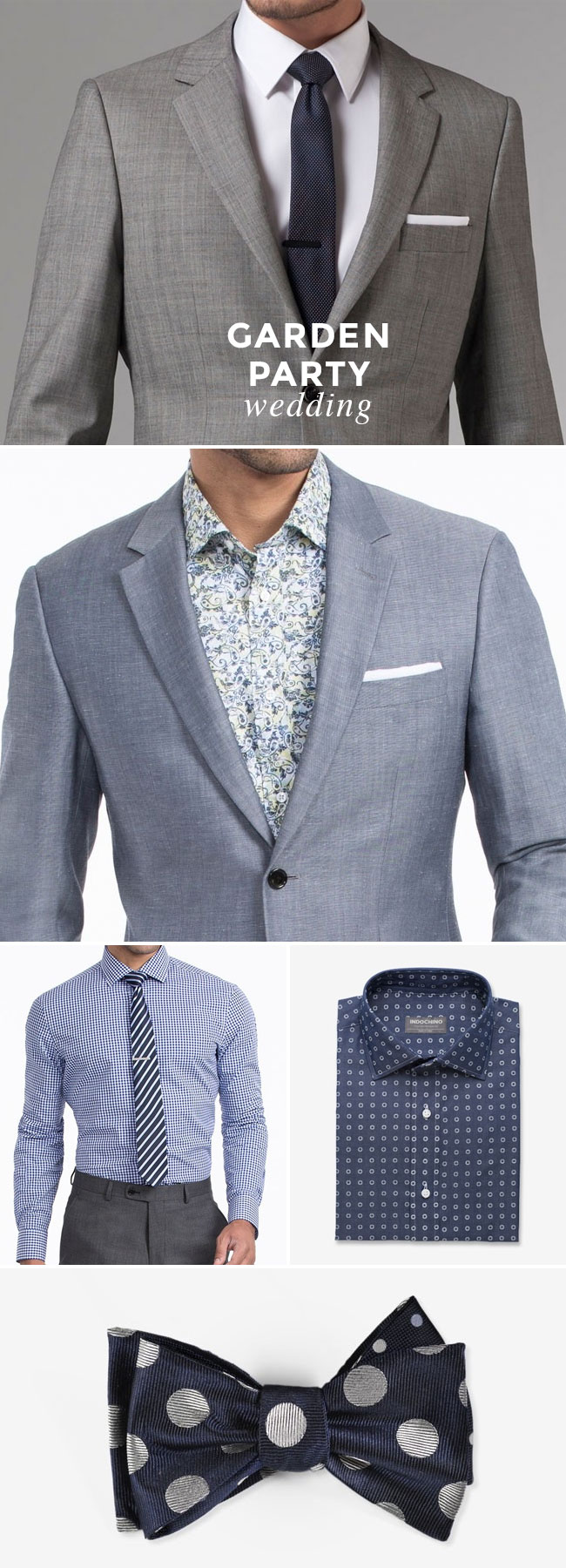 What to Wear to A Wedding - Guy Edition - Garden Party