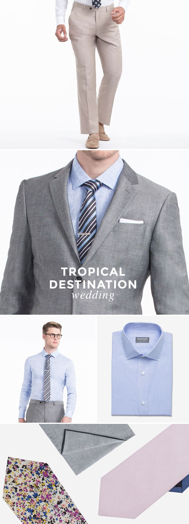 What to Wear to A Wedding - Guy Edition - Tropical Destination Wedding