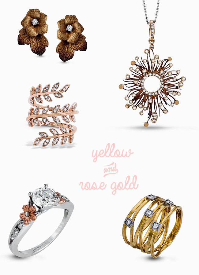 Simon G Rose Gold & Yellow Gold Jewelry