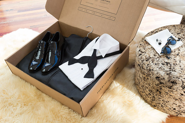 The Black Tux rental box