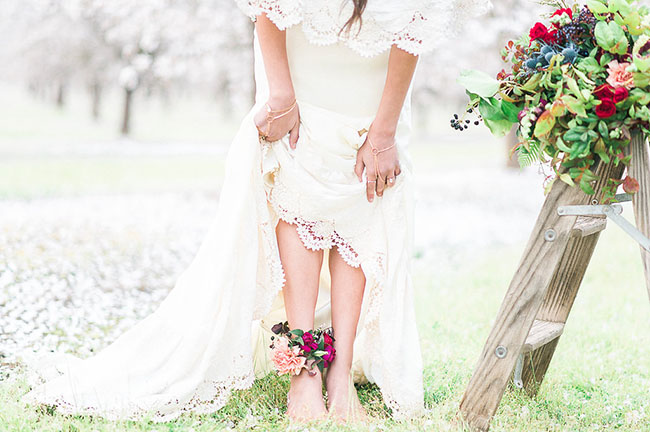 floral foot corsage
