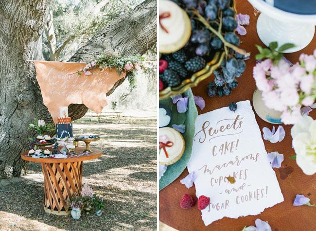 boho sweets table