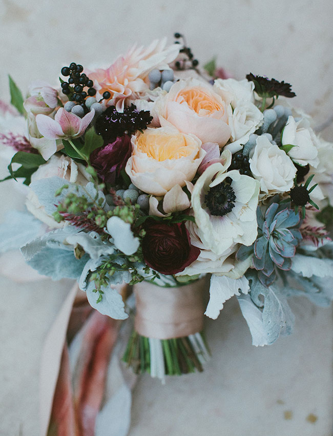 anemone rose bouquet
