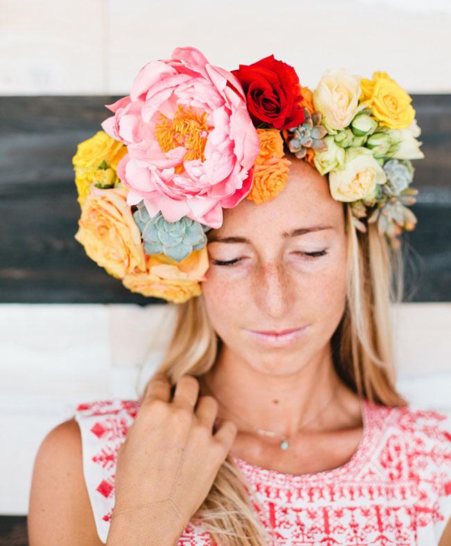 giant fiesta flower crown