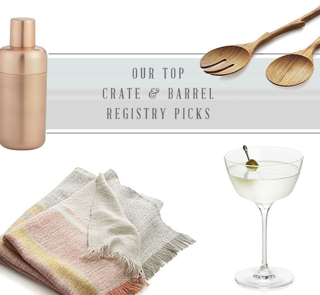 Crate & Barrel Registry Picks