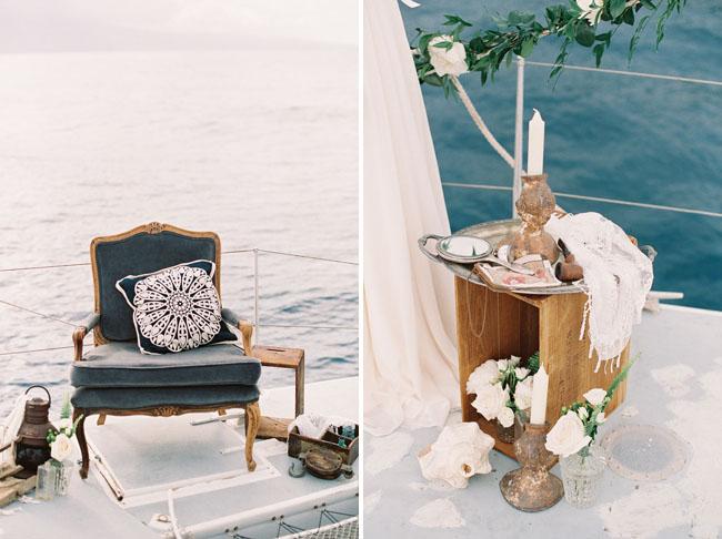 vintage rentals on a boat