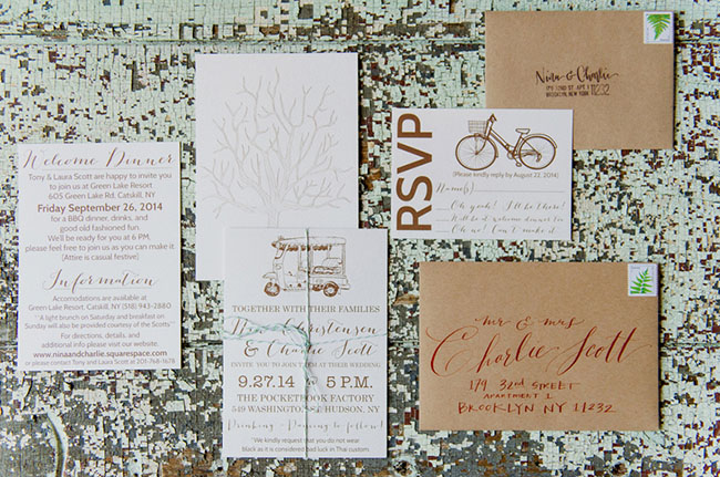 vintage bicycle invitation