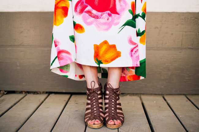 floral dress with sandals