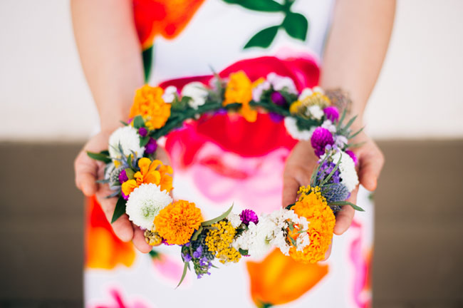 colorful flower crown