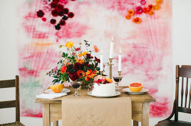 Watercolor flower backdrop