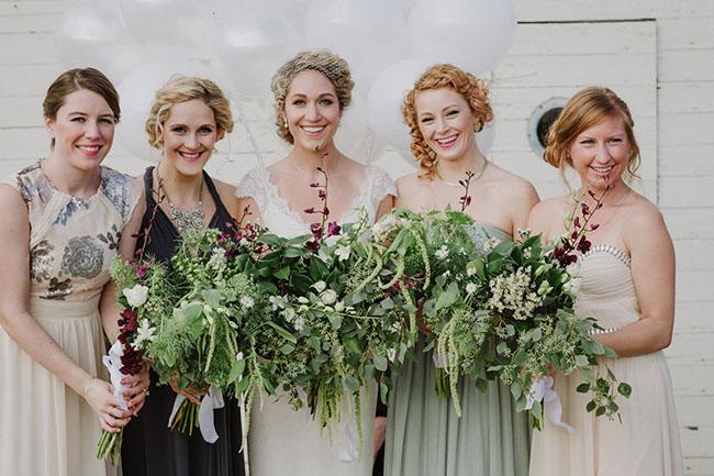 organic bridesmaids