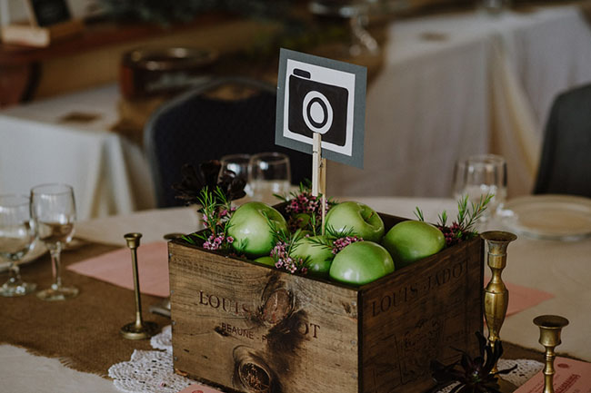 apple box centerpiece