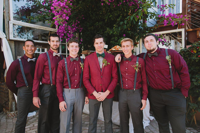 burgundy groomsmen