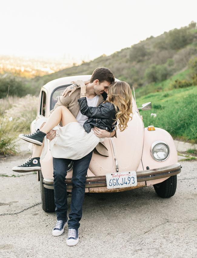 Hollywood VW Bug Engagement