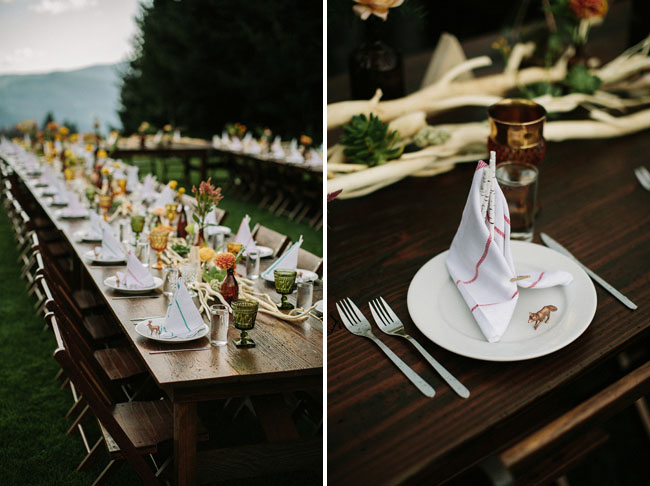 boho woodland reception