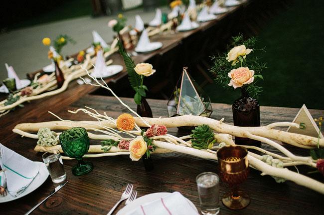 boho woodland reception