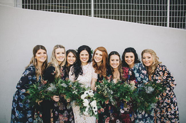 floral dress bridesmaids