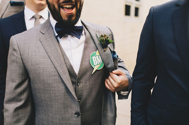 groomsmen button