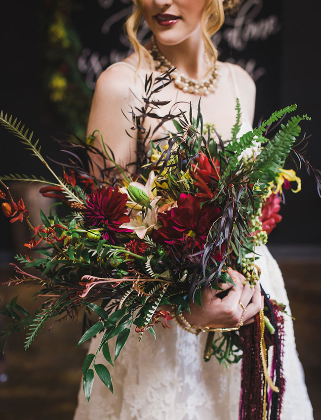 Marsala inspired bouquet