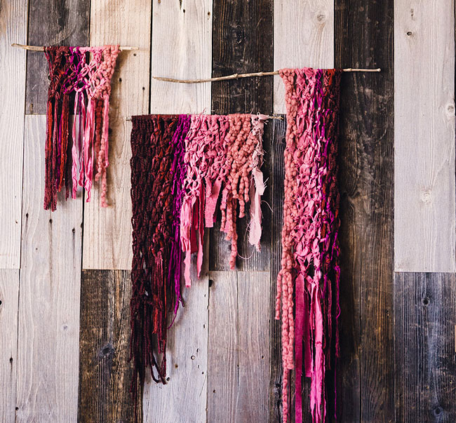 Marsala yarn backdrop