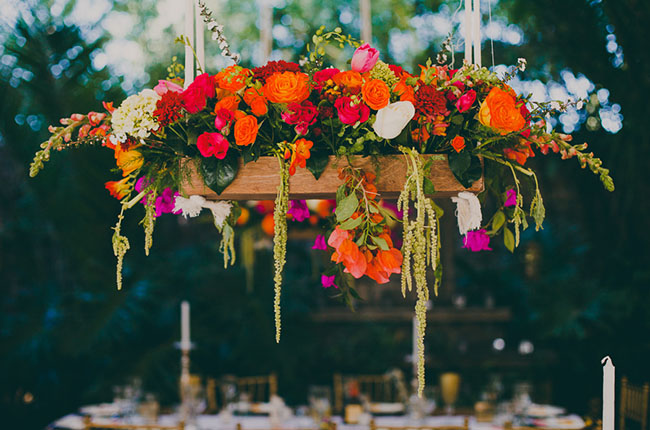 hanging floral centerpieces
