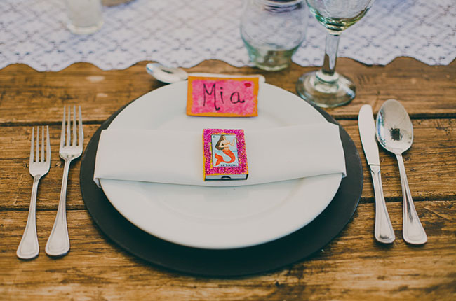 mexico wedding plate settings