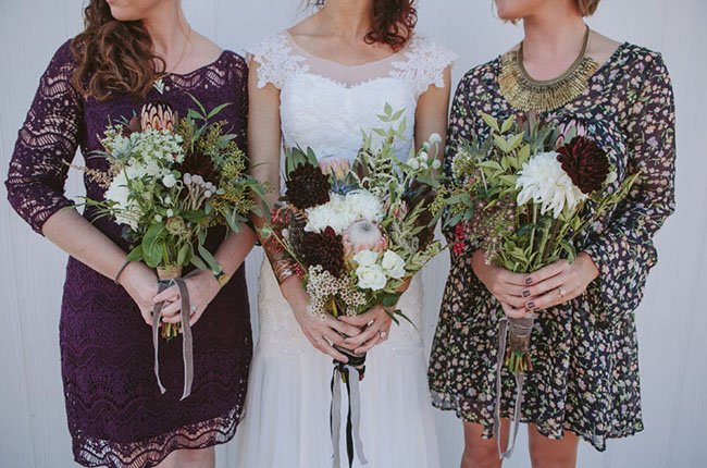 berry bridesmaids