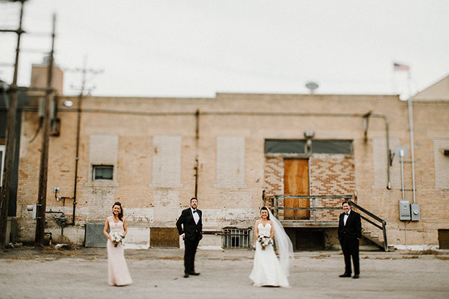 industrial wedding party