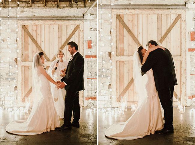 Dakota Wedding Dress 49 Inspirational string light ceremony