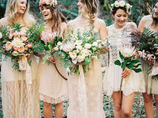Boho Bridesmaids in Oregon