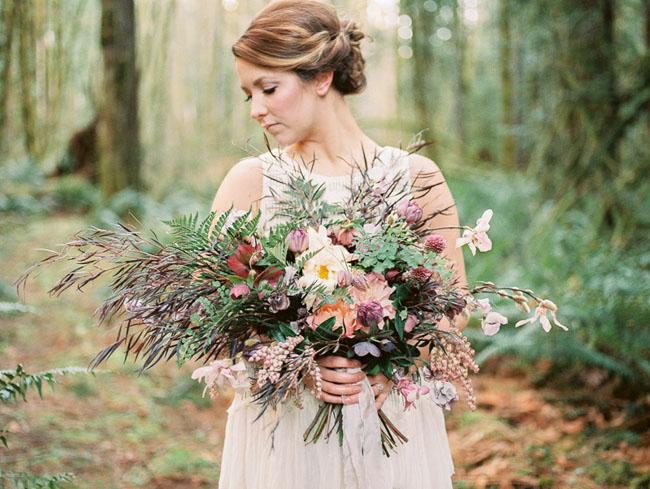 boho jewel toned bouquet