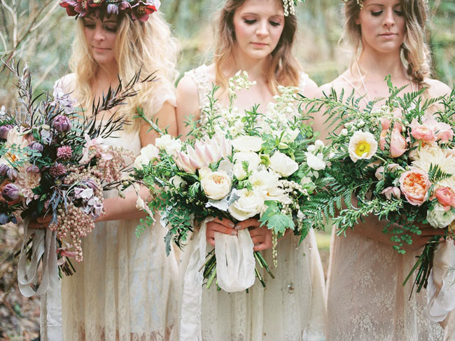 Boho Bridesmaids in Oregon