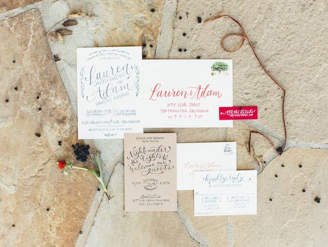 Ojai Barn Wedding Invitation