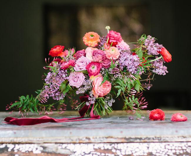 romantic rose gold bouquet