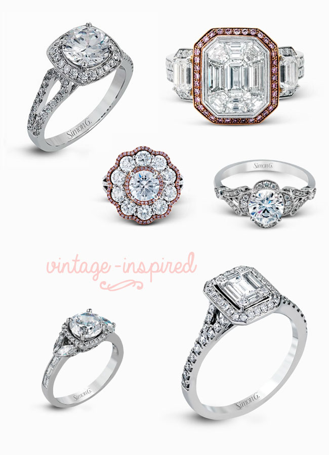 Simon G Vintage Inspired Rings
