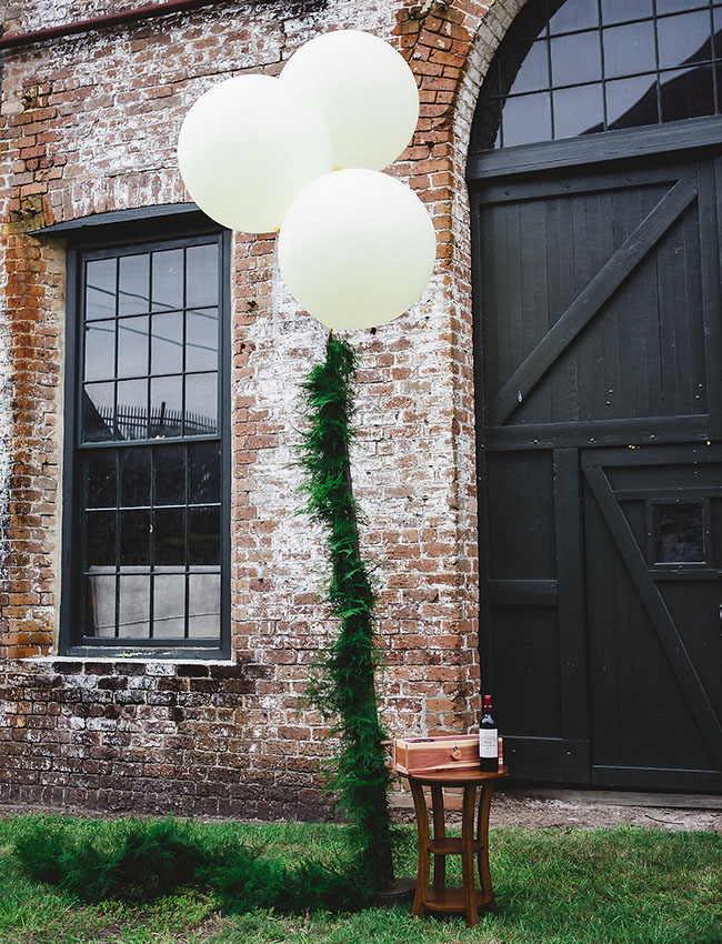 giant balloons with garland