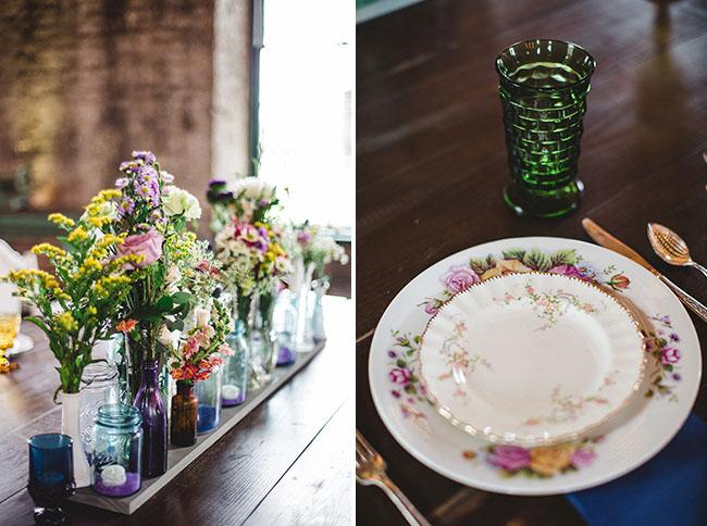 vintage floral plate setting
