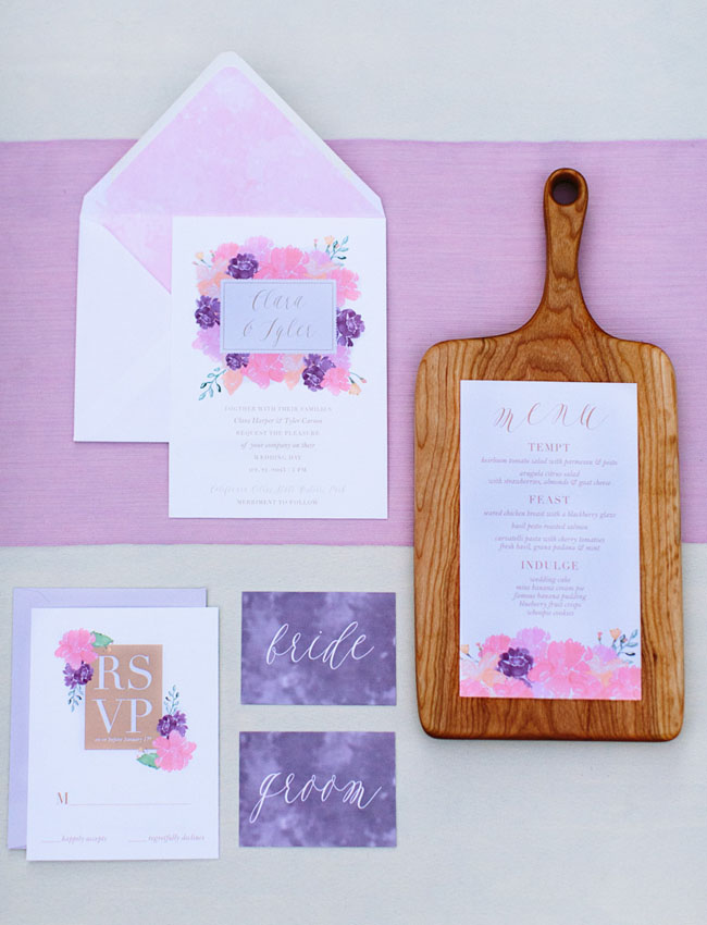 watercolor citrus invitation