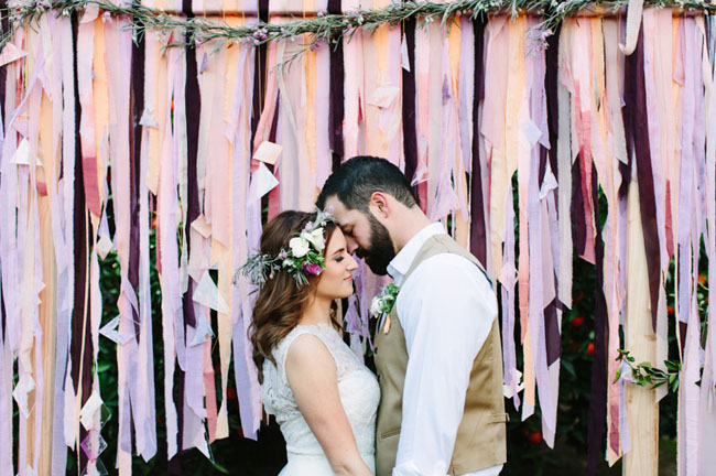 watercolor ribbon backdrop