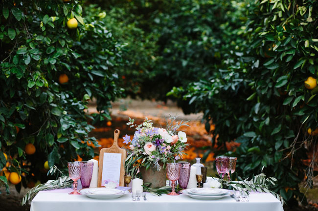 watercolor inspired tablescape