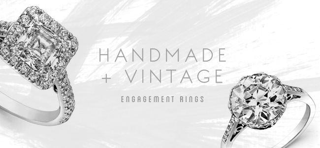 Handmade + Vintage Engagement Rings from Uneek, Natalie K. + SN Queens