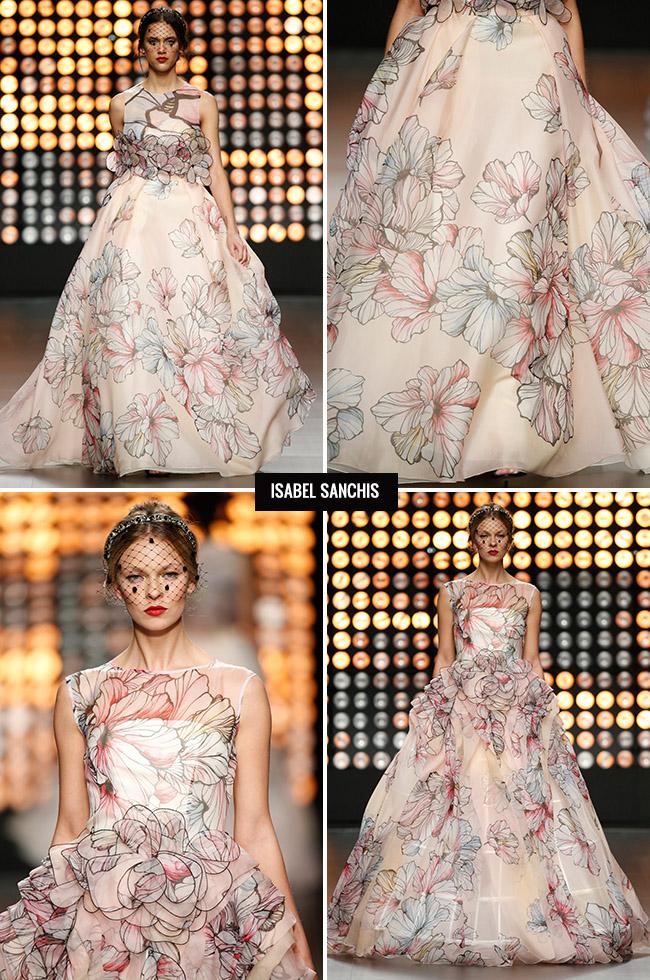 Isabel Sanchis Flower Wedding Dress