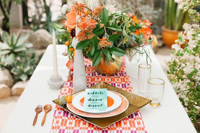 bright conservatory tablescape