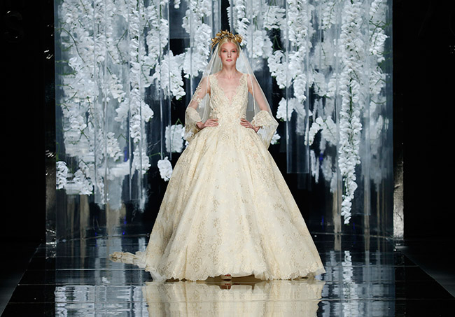 Feather Bottom Wedding Dress