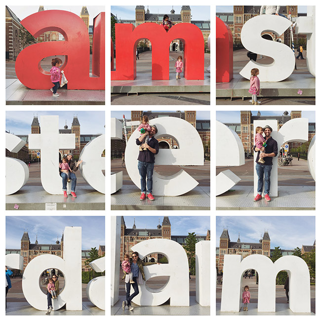 family fun at the amsterdam sign