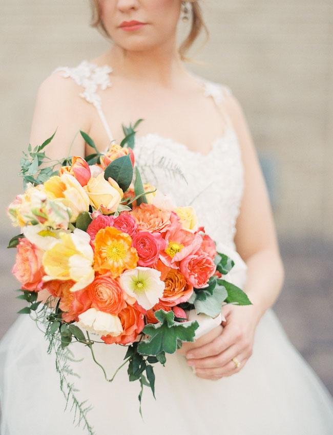 Elegant Poppy Flower Wedding Inspiration Green Wedding Shoes