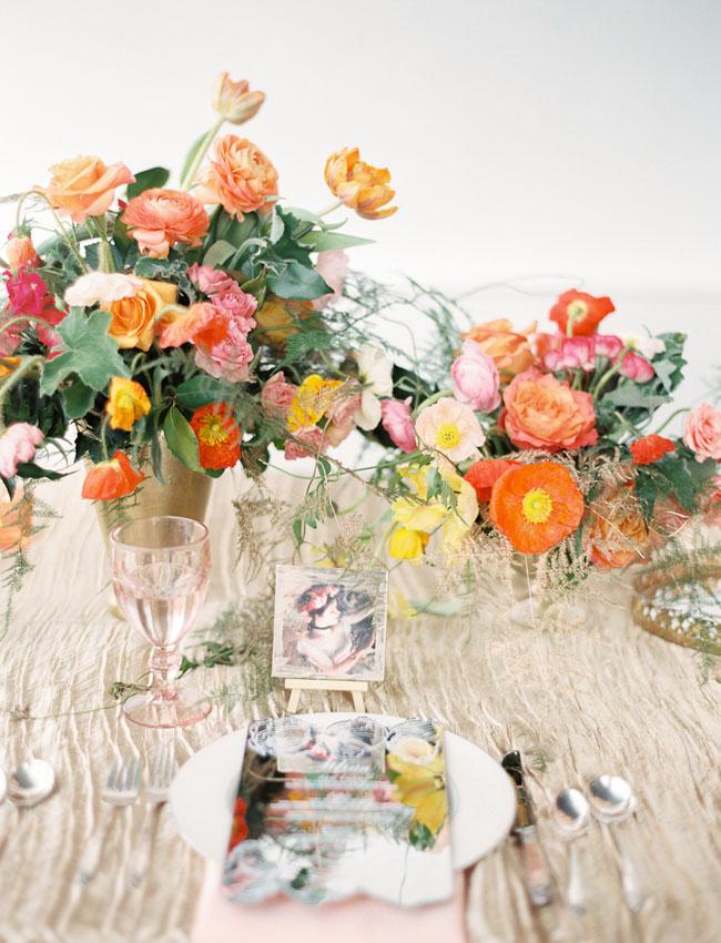Elegant poppy flower wedding inspiration green wedding shoes poppy wedding inspiration mightylinksfo