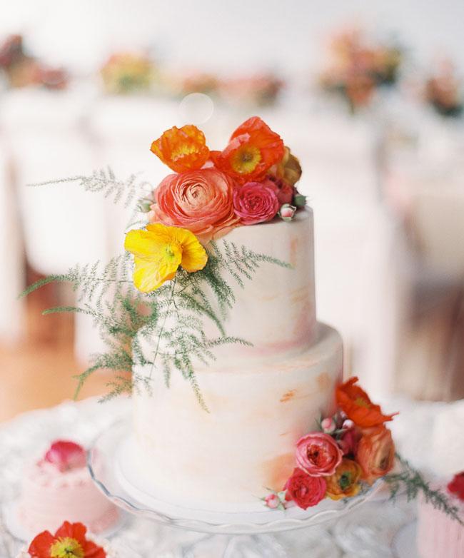 colorful poppy cake