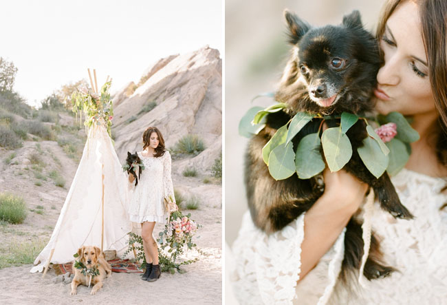 boho teepee engagement