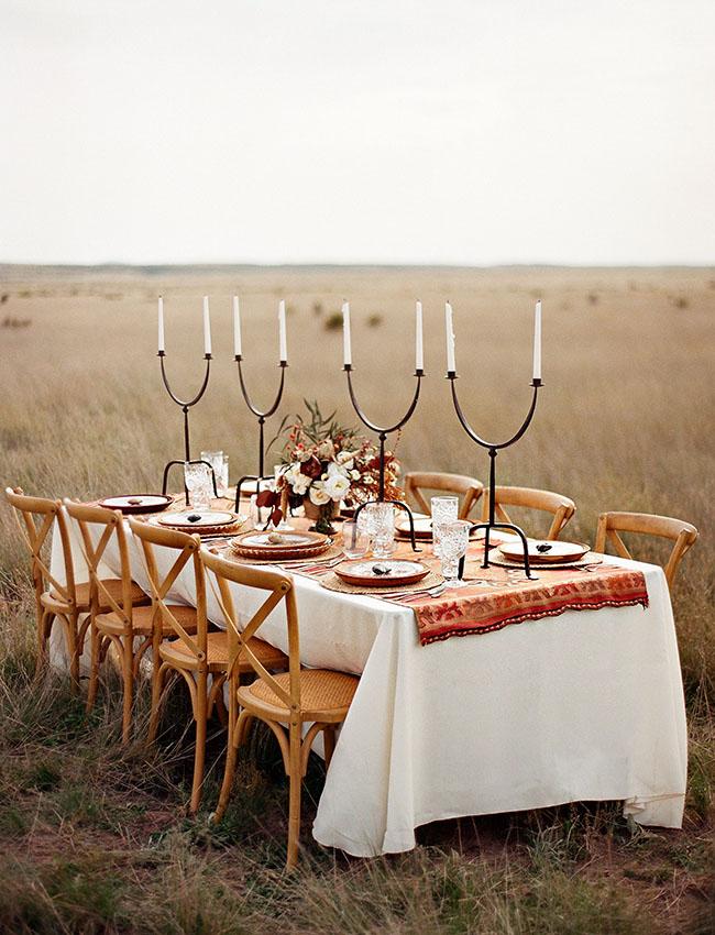 field tablescape